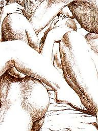 Drawings, Drawing, Draw, Vintage, Erotic