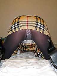 Pantyhose, Dress, Grey, Pantyhose upskirt, Dressing