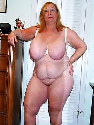 Grandma, Mature boobs, Home