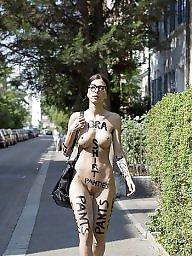 Public, Exhibitionist, Naked, Street, Flashing, Model