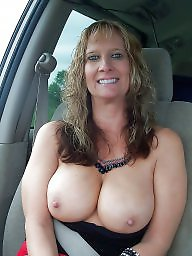 Car, Women, Big mature, Mature boobs, Voyeur mature, Cars