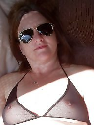 Downblouse, Mature bikini, Mature dress, Dressed, Bikini, Mature dressed